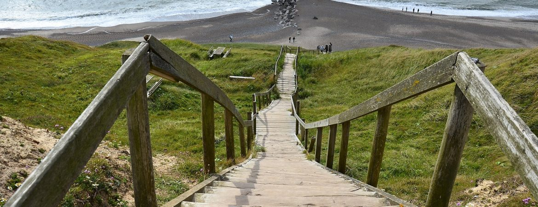 Danmark trappe strand kyst Jylland pixabay