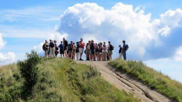 DVL-medlemmer på toppen i Mols Bjerge. Foto Preben Simonsen