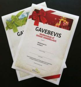 gavebevis på gavemedlemskab