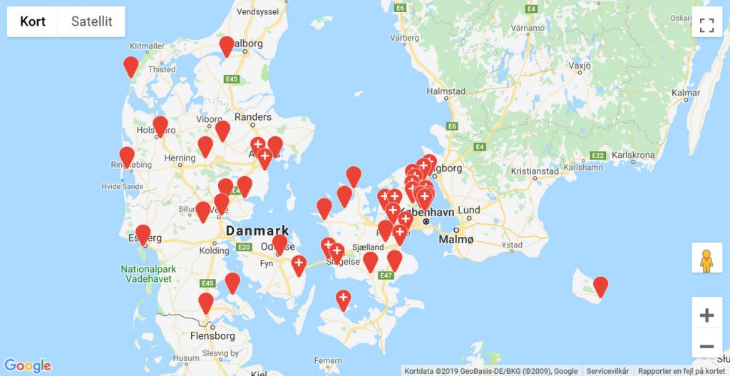 Klik på kortet og se nærmere på alle Vandrernes Dag-turene.