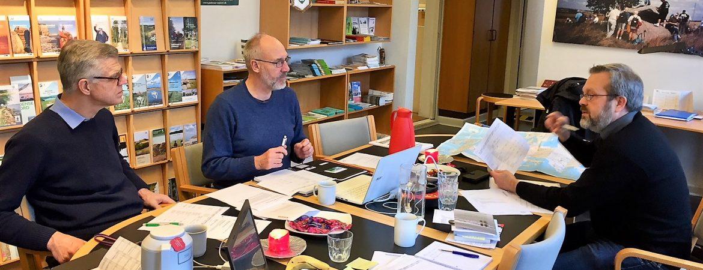 Redaktionsmøde Christian Lauritzen Steen Kobberø Carsten Johansen