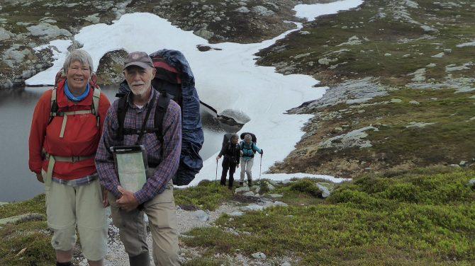 Bente og Steen Svendsen på en af deres mange vandreture. Privatfoto.