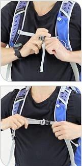 Brystspændet kan være en god indikator for, om ryglængden passer. Foto: Osprey