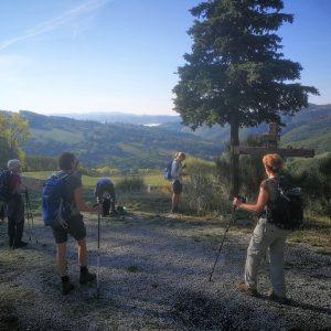 Endnu en dejlig udsigt på Cammino de San Fransesco-turen.Foto Hans Henrik Kleinert