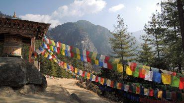 Munke på vej op til Tigers Nest Bhutan. Foto Vibeke Bach Madsen/Sif Thordis Søndergaard