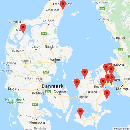 Her er overblikket over Kløverstivandredagens ture. Foto: Google Maps.