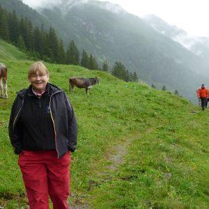 Lis Nielsen vandrer på den østrigske Lechweg-rute.