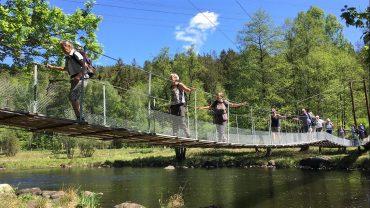 Her vandrer DVL langs Laxaleden i Sverige. Se mere hos Den Svenske Turistforening, STF. Foto Conny Møller.
