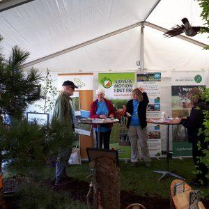 DVL på Naturmødet i Friluftsrådets telt.