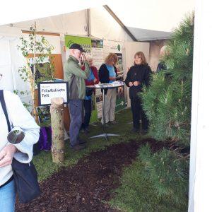 DVL-frivillige i Friluftsrådets telt på Naturmødet.
