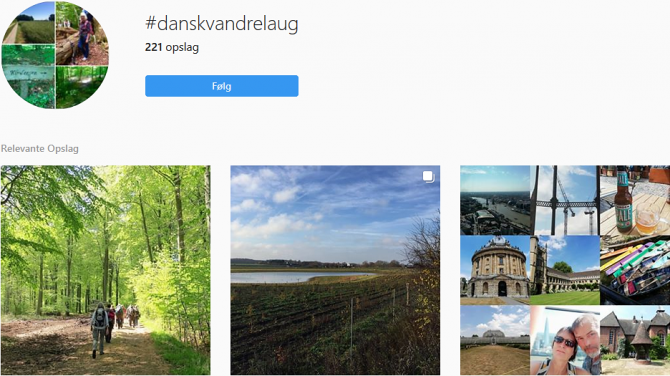 Følg #danskvandrelaug på Instagram