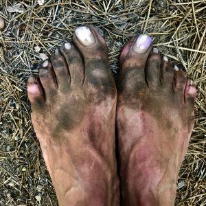 Disse tæer har taget Gitte Holtze på en lang rejse. Foto privat.