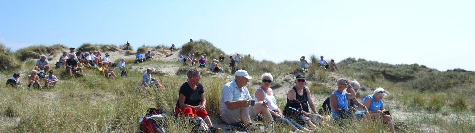 Frokostpause en sommerdag på Fanø. Foto Aage Andersen