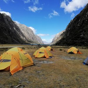 Teltlejr i Peru. Foto Kirsten Brandt
