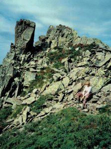 Anne-Lise Lemche på Corsika i 1990 Foto privat