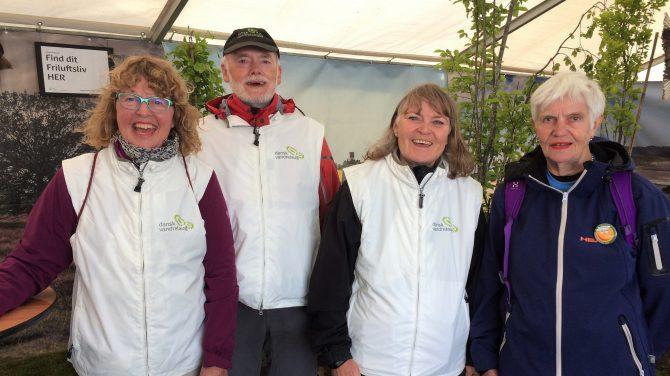 Jette Kruse, Ole Bertelsen, Anna Marie Buur og Anita Munck udgjorde DVL's hold ved Naturmødet 2019.