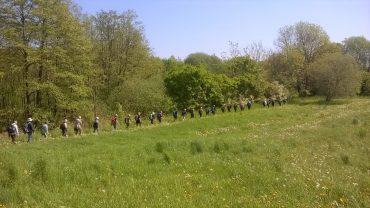 Her går DVL i gåsegang ved Skraldskov. Vi går også mod ensomhed. Foto Preben Simonsen