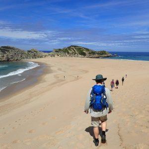 Sandvandring - Cape Sydafrika. Foto Jens Kjær Olsen