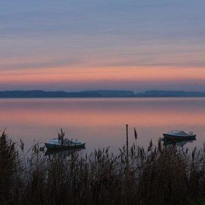 Augustenborg Fjord i skumringen. Foto Peter Steg