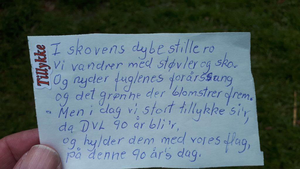 Hannes fødselsdagssang til DVL