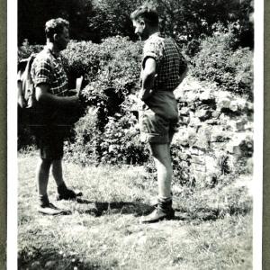 Helge Prehn i en passiar ved Asserbo Ruin