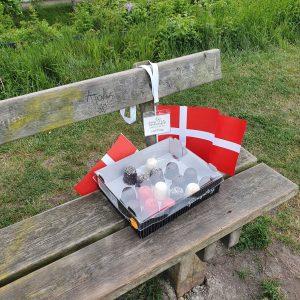 Flødeboller serveret ved Kastrup Fort.Foto Lisbeth Mehlbye