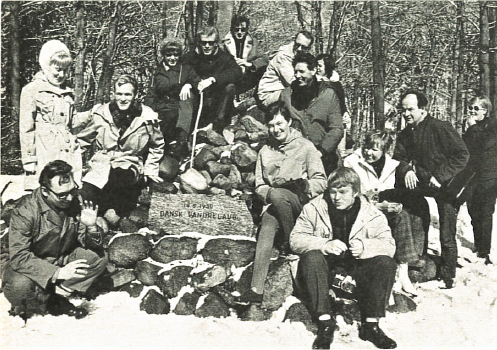 Odense afdeling påsketur ved varden 1970. Foto DVL's arkiv