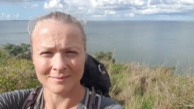Trine Rathcke Lunild i den frie natur.