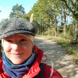 Trine Rathcke Lunild på tur. Foto privat
