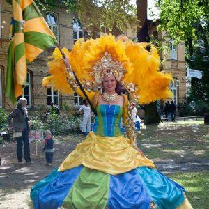 Trine Rathcke Lunild til karneval. Foto privat