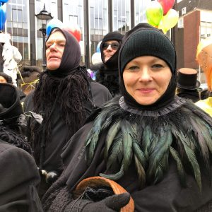 Trine Rathcke Lunild i masketeater. Foto privat