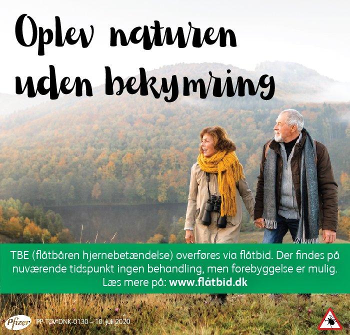 Annonce for Pfizer flåtbid.dk