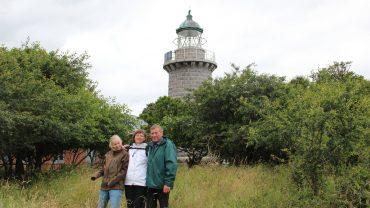 Familien ved Æbelø Fyrtårn Foto privat.