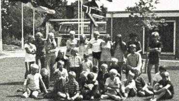 Den glade danske lejrgruppe. Foto DVL arkiv