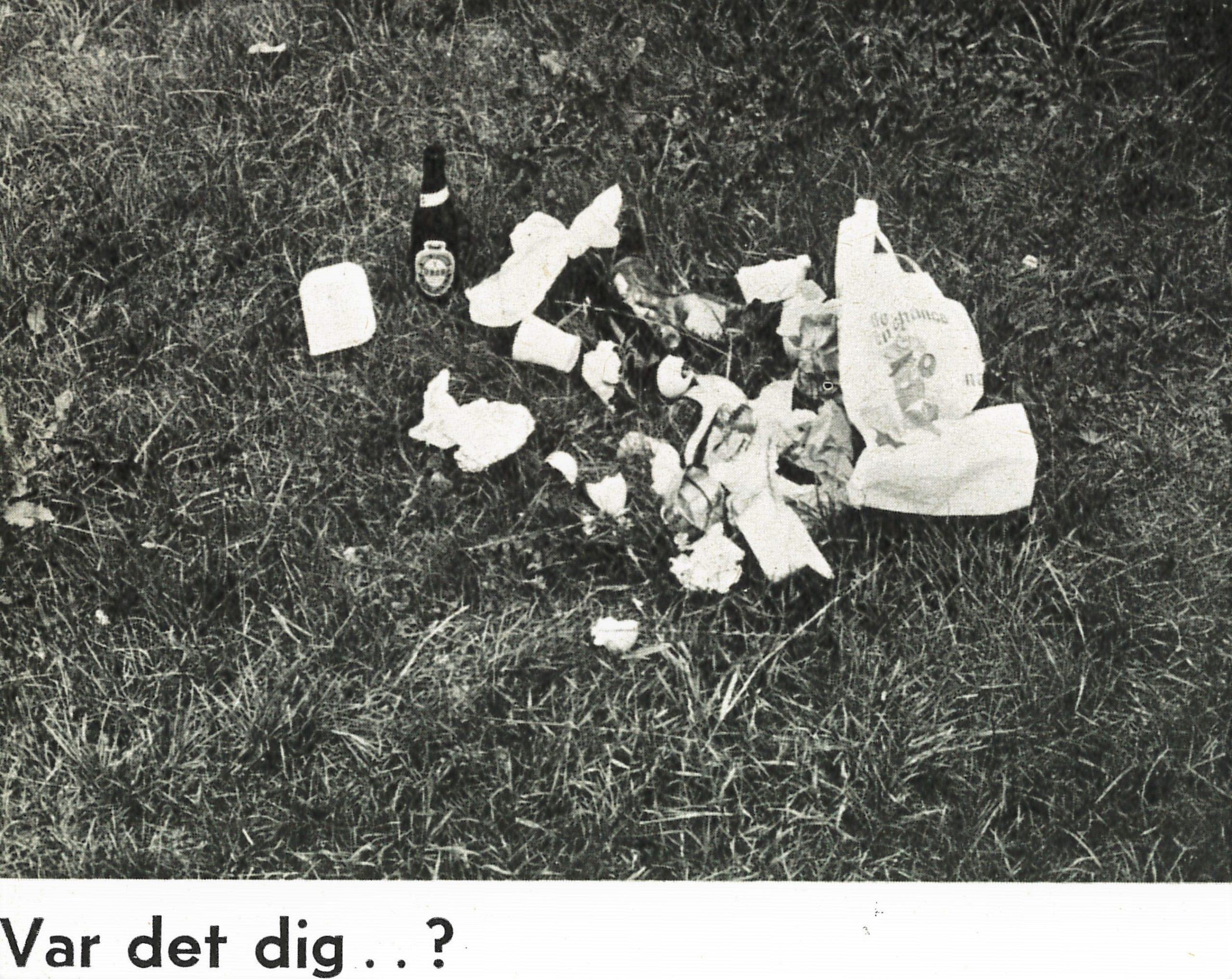 Miljøsvineri er desværre en gammel historie. Foto DVL arkiv