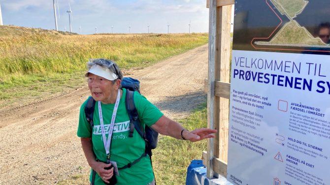 Anita Garbers viser vej ved Prøvestenen