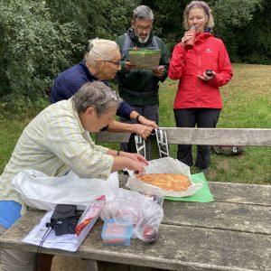 Anita Garbers serverer kage på turen