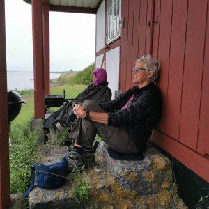 Pause på Øhavsstien. Foto Hans Henrik Kleinert