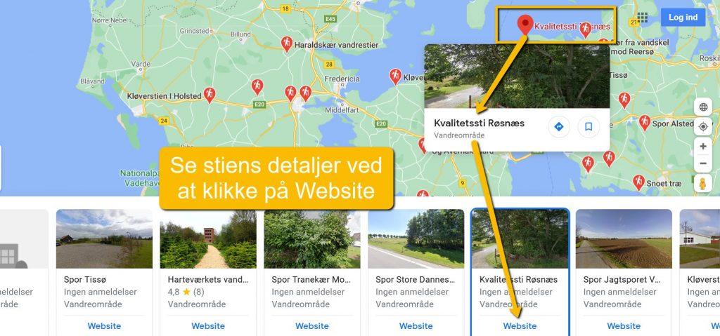 Kvalitetssti Røsnæs på Google Maps