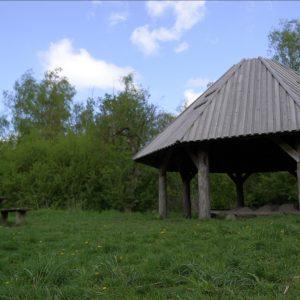 Flere steder i Vestskoven er der bålsteder, hvor man kan tænde bål. Foto Majbrit Søgaard.