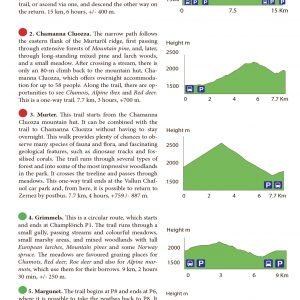 Eksempel på sporprofiler fra Swiss National Park.
