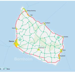 De mange knudepunkter på Bornholm skal gøre det muligt at vælge ruten frit.