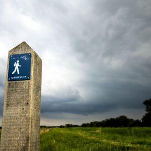 Piktogram langs marskstien. Foto Ulrik Pedersen Tøndermarsk Initiativet