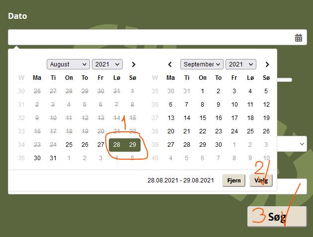 Tursøger med valgt dato