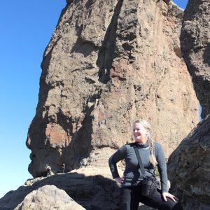 Dorte Vistrup Madsen på bjergtur