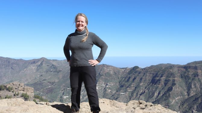Dorte Vistrup Madsen på bjergtur (2)