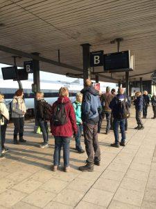 Vi mødtes som altid på stationen, denne gang gik det mod Vejle. Foto Eva Jacobsen