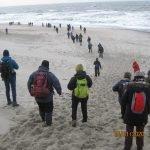 2 km strandtur ved Vesterhavet er en del af topturen, Husby klitplantage