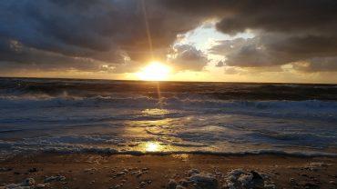 DVL vandretur - Solnedgangstur - en af flere solnedgangsbilleder.