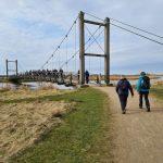DVL vandretur 170421 - Kløverstivandring Skjern-Tarm sort rute. Kong Hans bro.